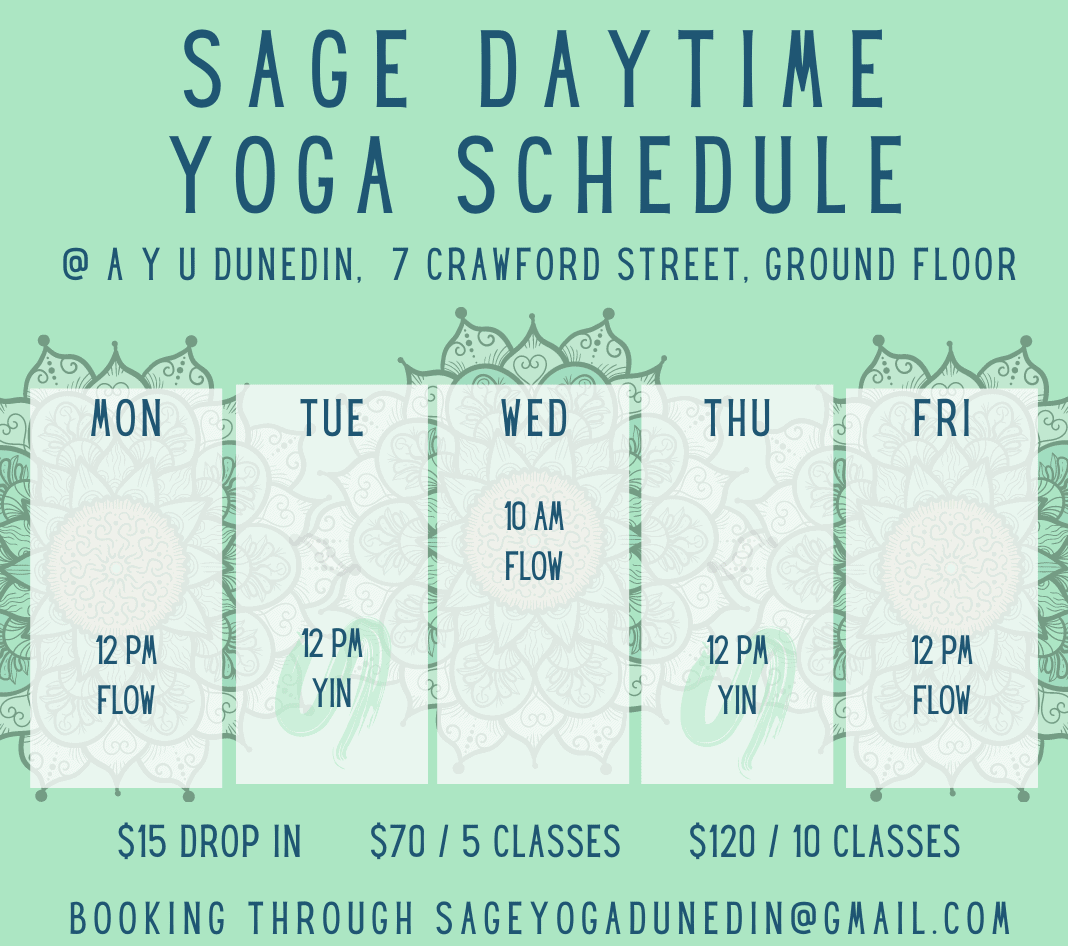 Copy of SAGE DAYTIME YOGA SCHEDULE